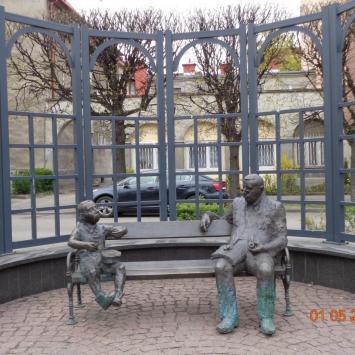 Ławeczka Guntera Grassa w Gdańsku