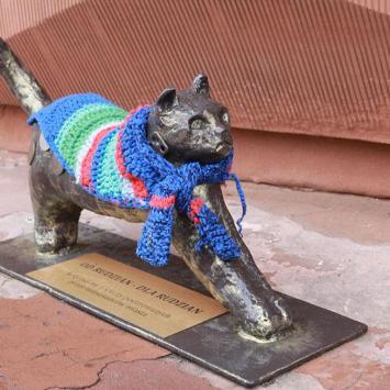 Rzeźby kota w Rudzie Śląskiej