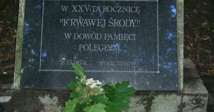 Płyta pamiątkowa Krwawej Środy w Bochotnicy - zdjęcie