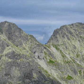 Mięguszowiecka Przełęcz Pod Chłopkiem w Tatrach