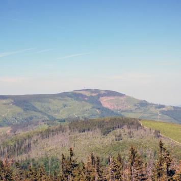Widok na skrzyczne z Baraniej Góry, mkamin