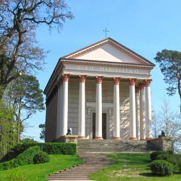 Rzymska świątynia w Rogalinie - zdjęcie