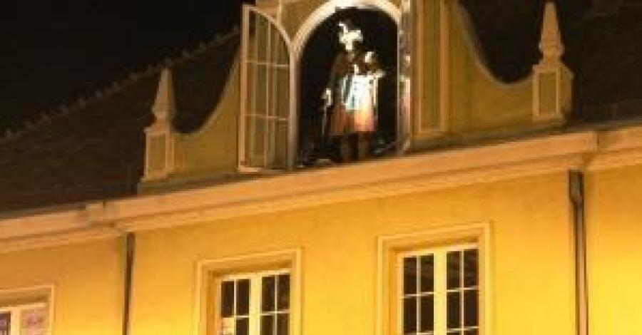 Figura Pana Twardowskiego w Bydgoszczy - zdjęcie