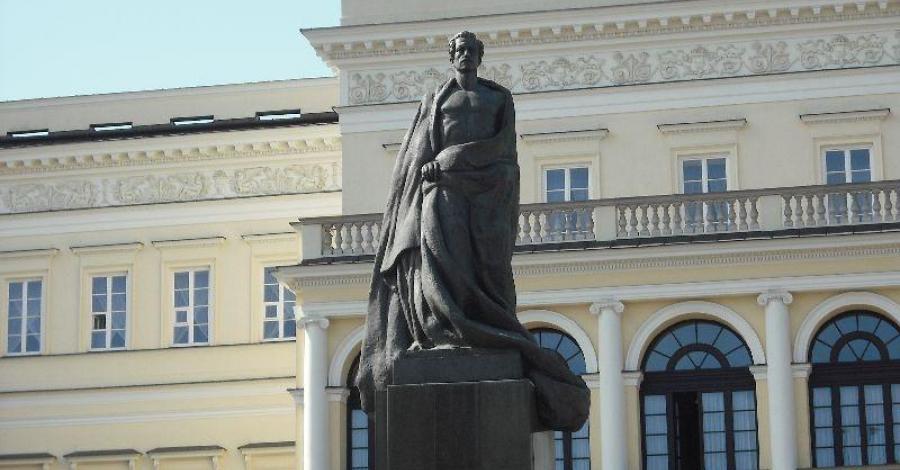 Pomnik Juliusza Słowackiego w Warszawie - zdjęcie
