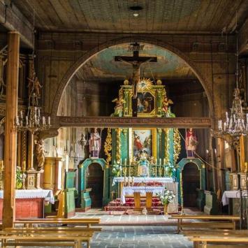 Drewniany kościół w Sobolowie