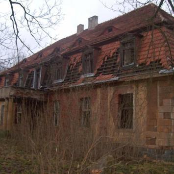 Ruiny pałacu w Kamnicy