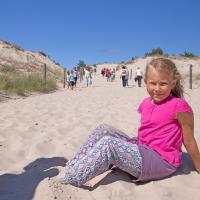 Zejście na plażę w Łebie