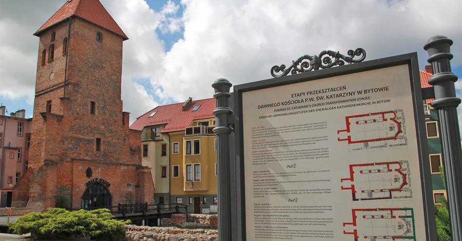 Gotycka wieża w Bytowie - zdjęcie