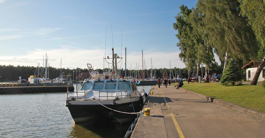 Port jachtowy w Łebie - zdjęcie