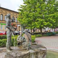 Pobiedziska Rynek i fontanna