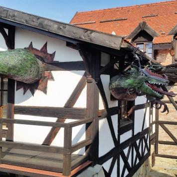 Grybów  Zamek Stara Baśń - rekonstrukcja grodu warownego