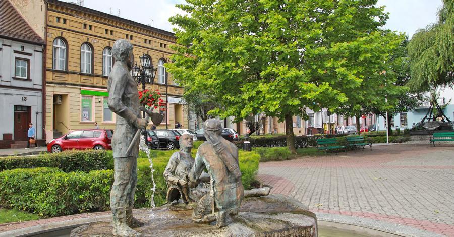 Fontanna w Pobiedziskach - zdjęcie