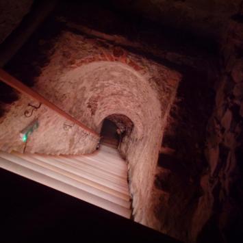 Podziemna Trasa Nietoperzowa , pod  zamkiem w Nowym Wiśniczu