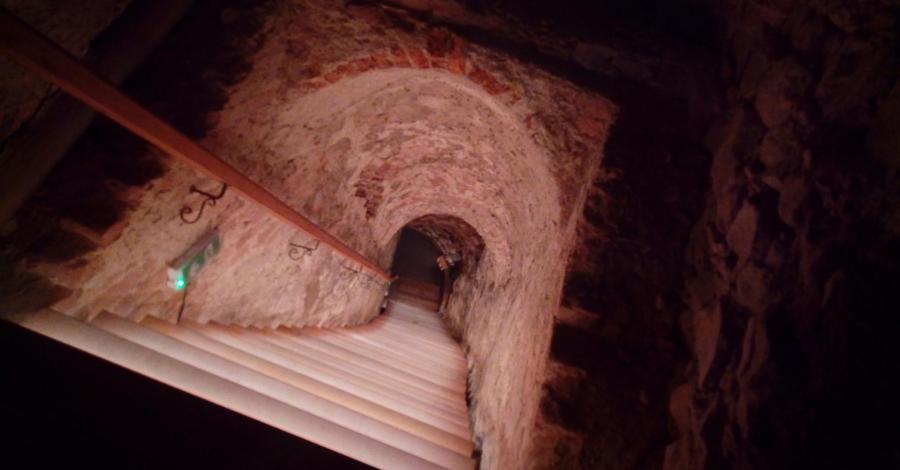 Podziemna Trasa Nietoperzowa , pod zamkiem w Nowym Wiśniczu, mokunka