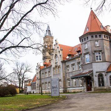 Pałac w Nakle Śląskim i otaczający park