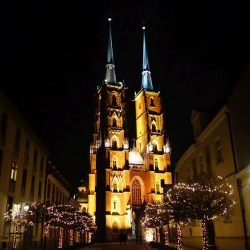 Wrocław po zmierzchu