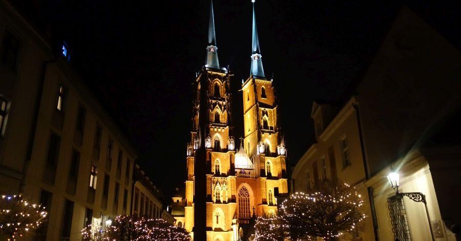 Wrocław po zmierzchu - zdjęcie