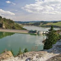 Widok z zamku na Jezioro Czorsztyńskie