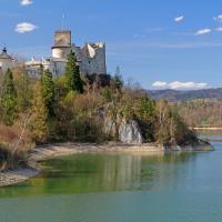 Jezioro Czorsztyńskie i zamek w Niedzicy