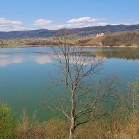 Widok na Czorsztyn z Niedzicy