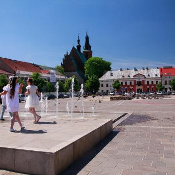 Fontanna na rynku w Olkuszu