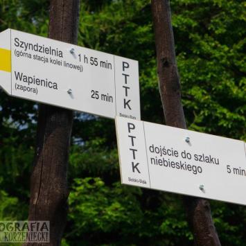 Kierunek - Krzywa Chata nad Zaporą w Wapienicy