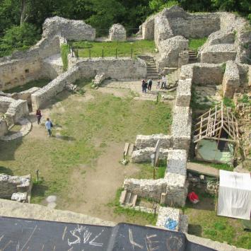 Ruiny zamku w Wleniu
