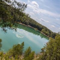 kolorowe jeziorka w łęknicy