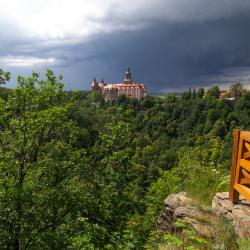 Zamek Książ z punktu widokowego
