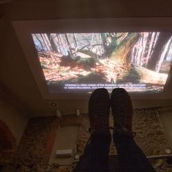 Zamek Grodno - film przyrodniczy na leżąco :)