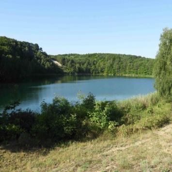 Jezioro Turkusowe, Wsteczna Delta Świny i Bunkier V3, czyli dużo widoków i trochę historii