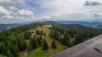 W Gorcach - wieża na Magurkach i Dolina Potoku Jaszcze