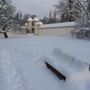 Białystok na biało - zdjęcie
