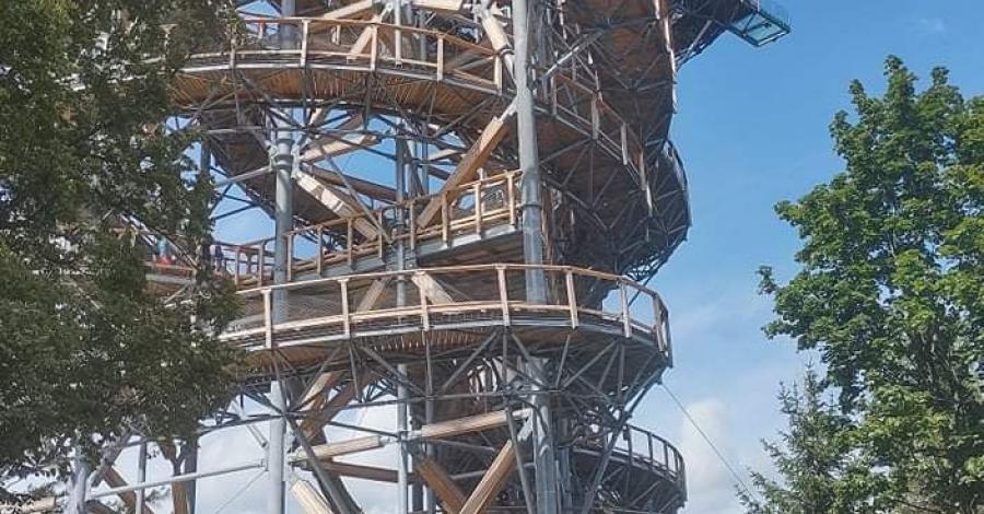 Wieża Sky walk Świeradów Zdrój. - zdjęcie