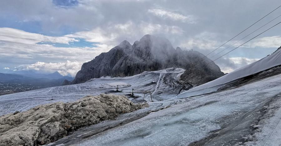 Eurotrip 2021 część 3 - Groźny lodowiec Dachstein, Austria - zdjęcie